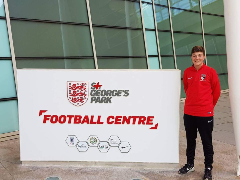 Harvey Newstead wins FA Community Award - Norfolk County FA's Young Volunteer of the Year 2017